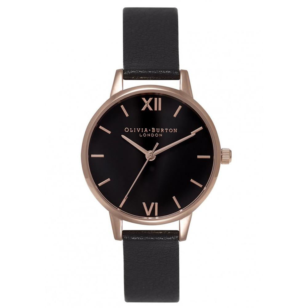 Midi Dial Black Dial Watch - Black & Rose Gold