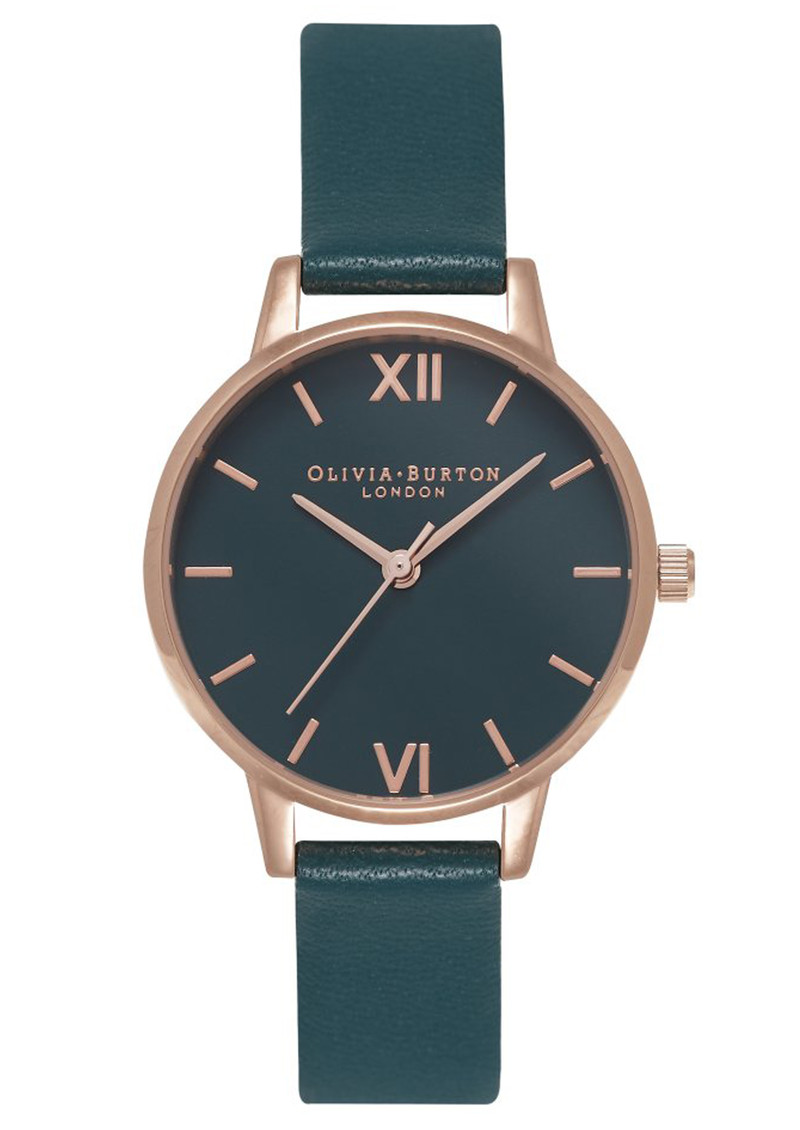 Olivia Burton Midi Dial Teal Dial Watch - Teal & Rose Gold main image