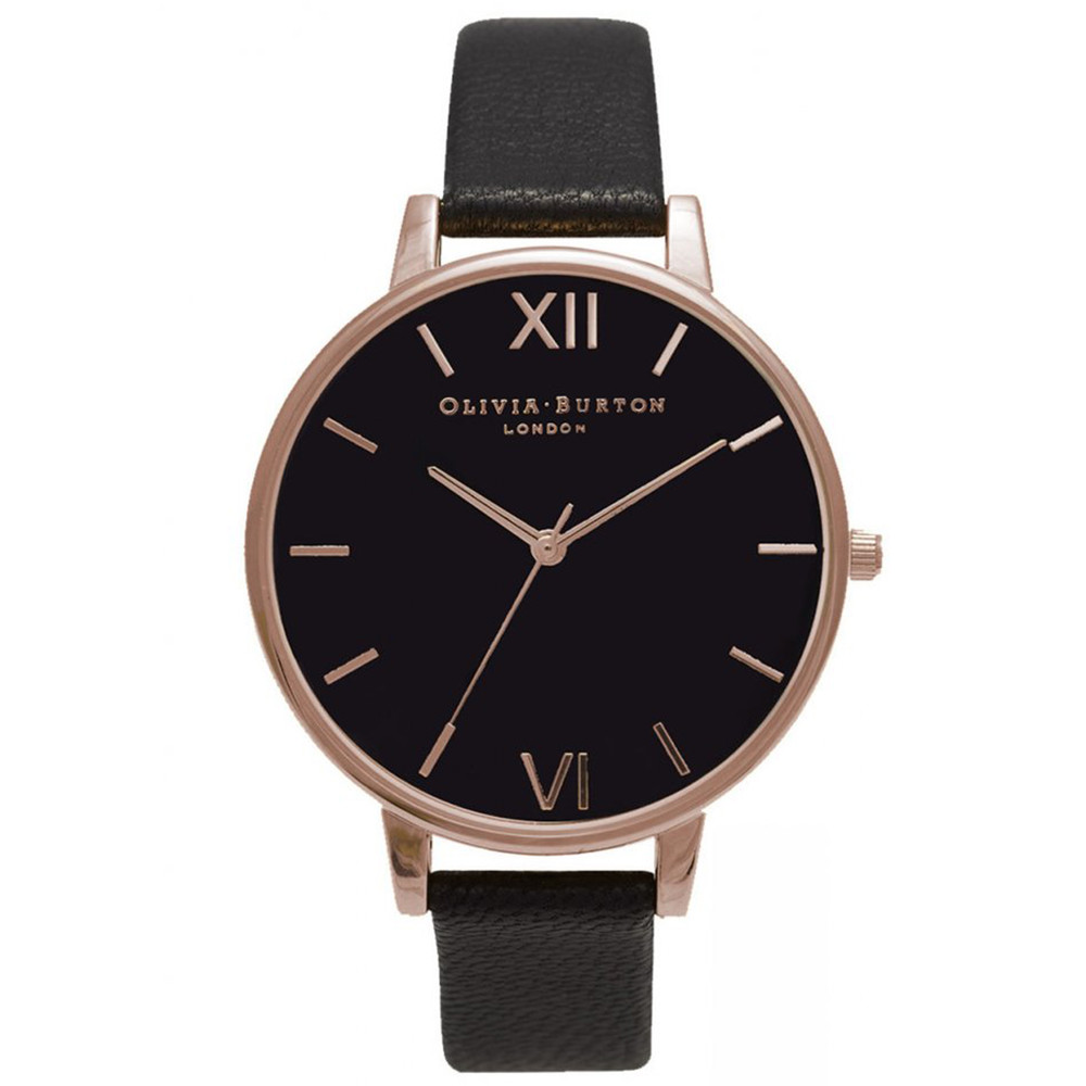 Big Black Dial Watch - Black & Rose Gold