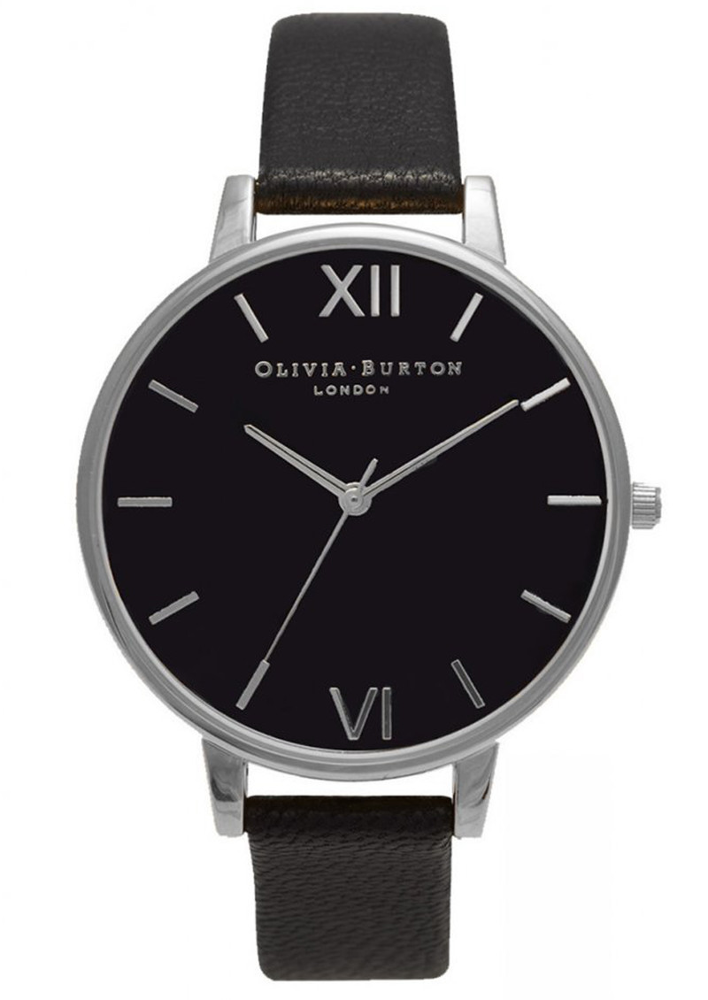 Big Black Dial Watch - Black & Silver main image