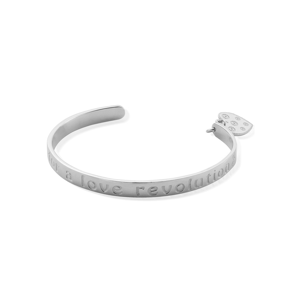 Love Revolution Bangle - Silver