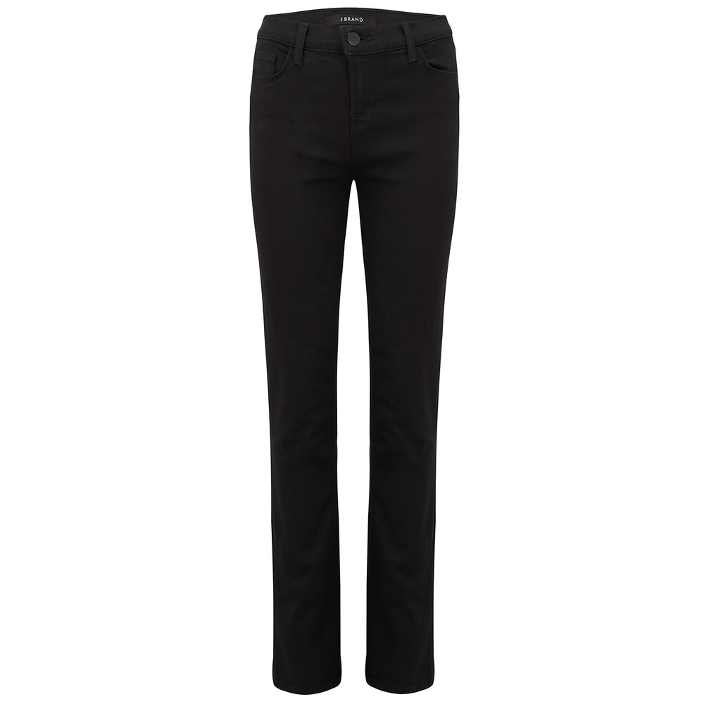 Maria High Rise Straight Leg Jeans - Seriously Black