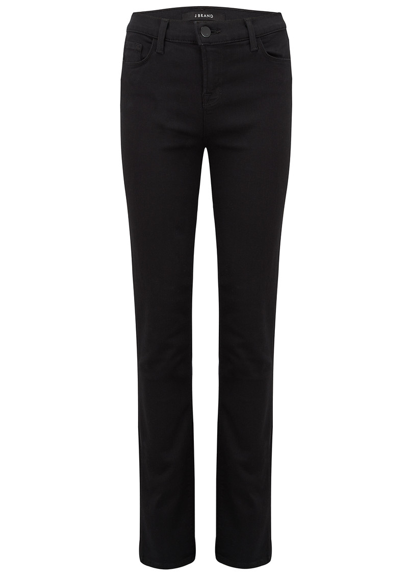 Maria High Rise Straight Leg Jeans - Seriously Black main image
