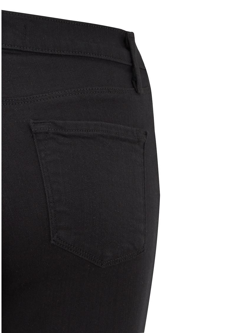 J Brand Maria High Rise Straight Leg Jeans - Seriously Black main image