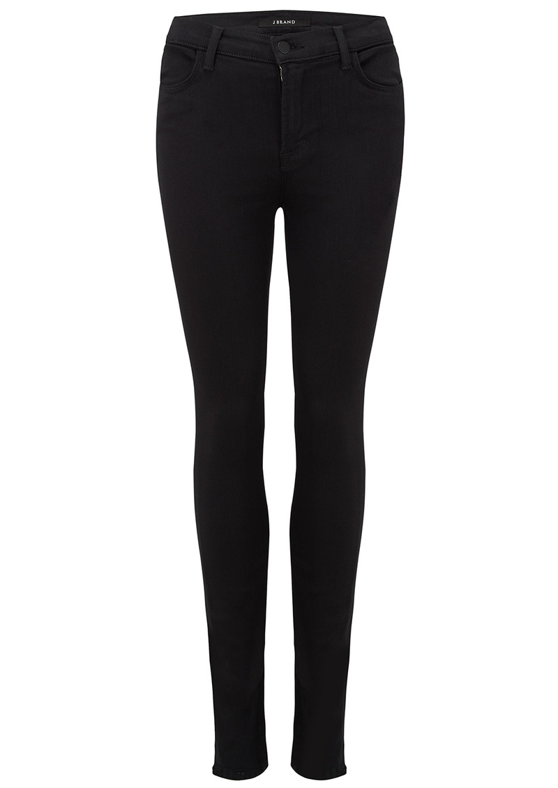 J Brand Maria High Rise Skinny Jeans - Seriously Black main image
