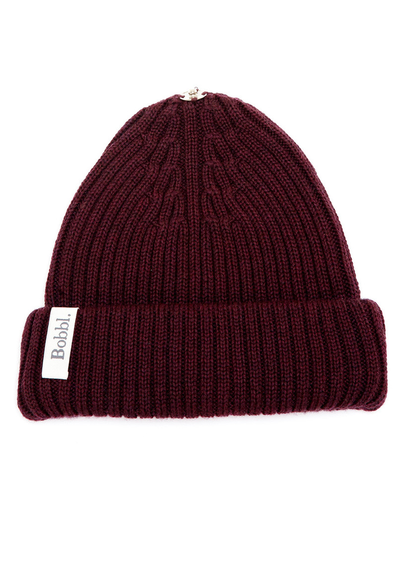 Bobbl Knitted Hat - Maroon main image