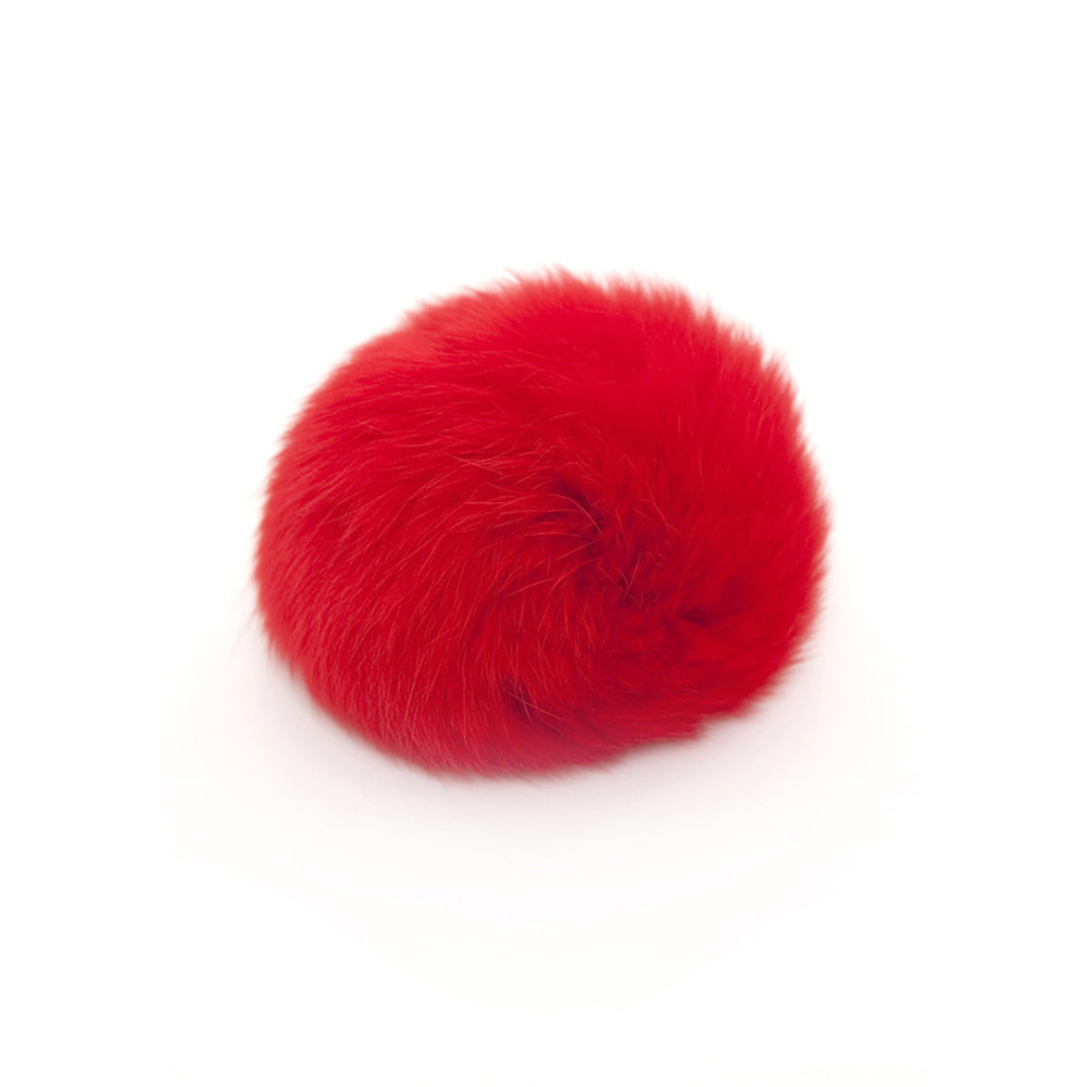 MINI FUR BOBBL - RED
