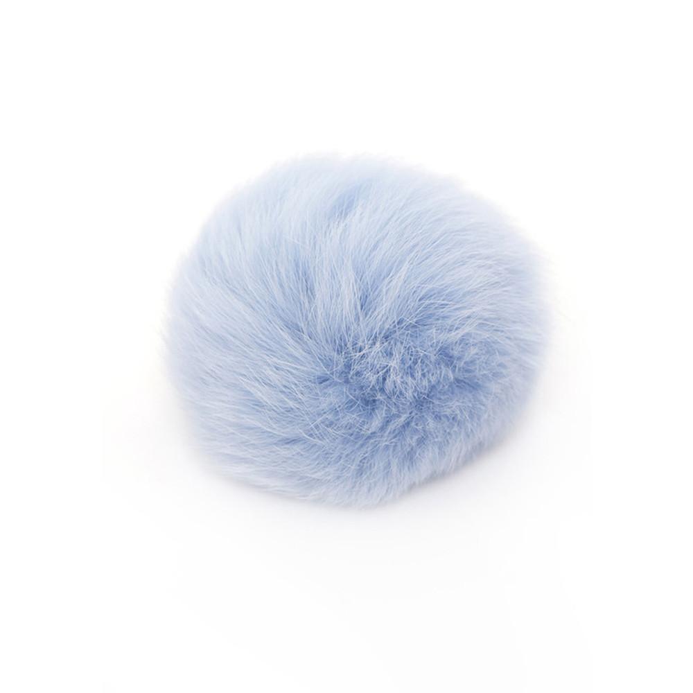 MINI FUR BOBBL - BABY BLUE