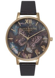 Olivia Burton Woodland Multi Butterfly Watch - Black & Gold
