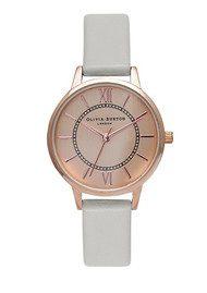 Olivia Burton Wonderland Watch - Grey & Rose Gold