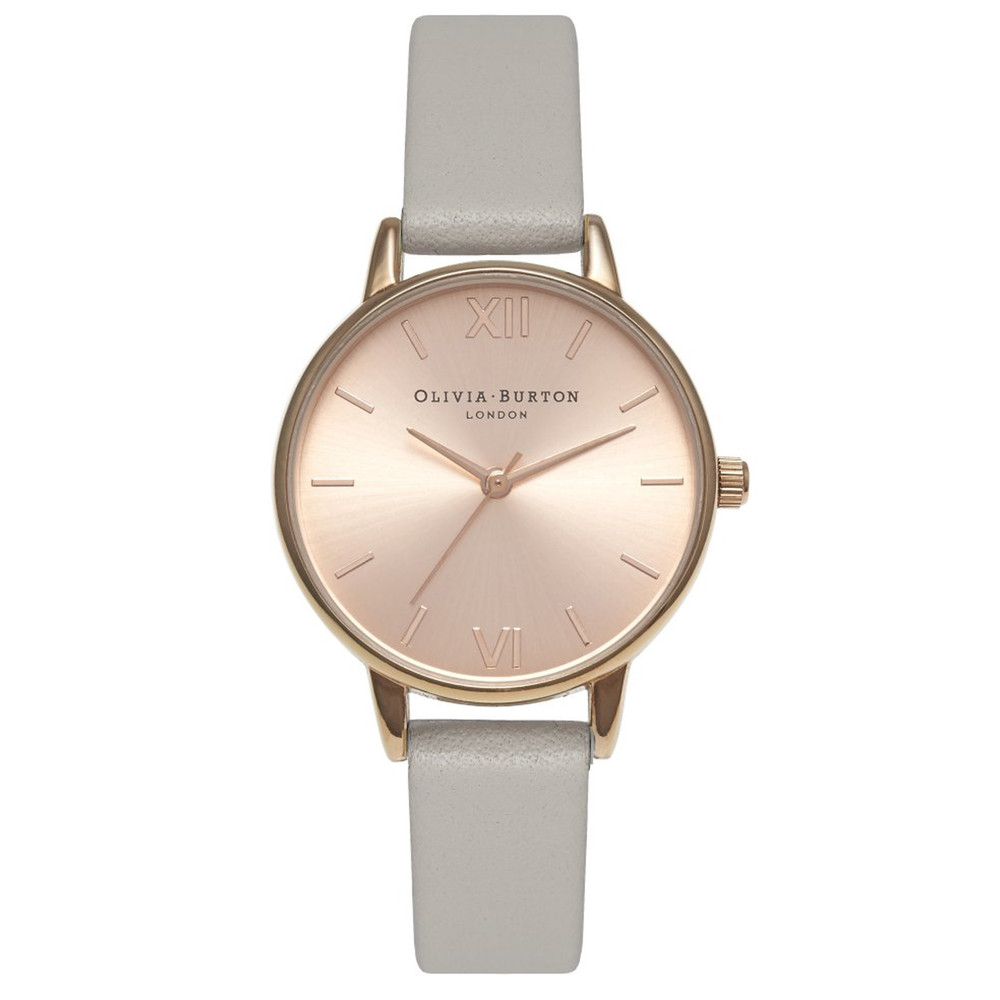 Midi Dial Watch - Grey & Rose Gold