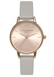 Olivia Burton Midi Dial Watch - Grey & Rose Gold