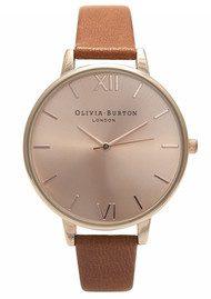 Olivia Burton Big Dial Watch - Tan & Rose Gold