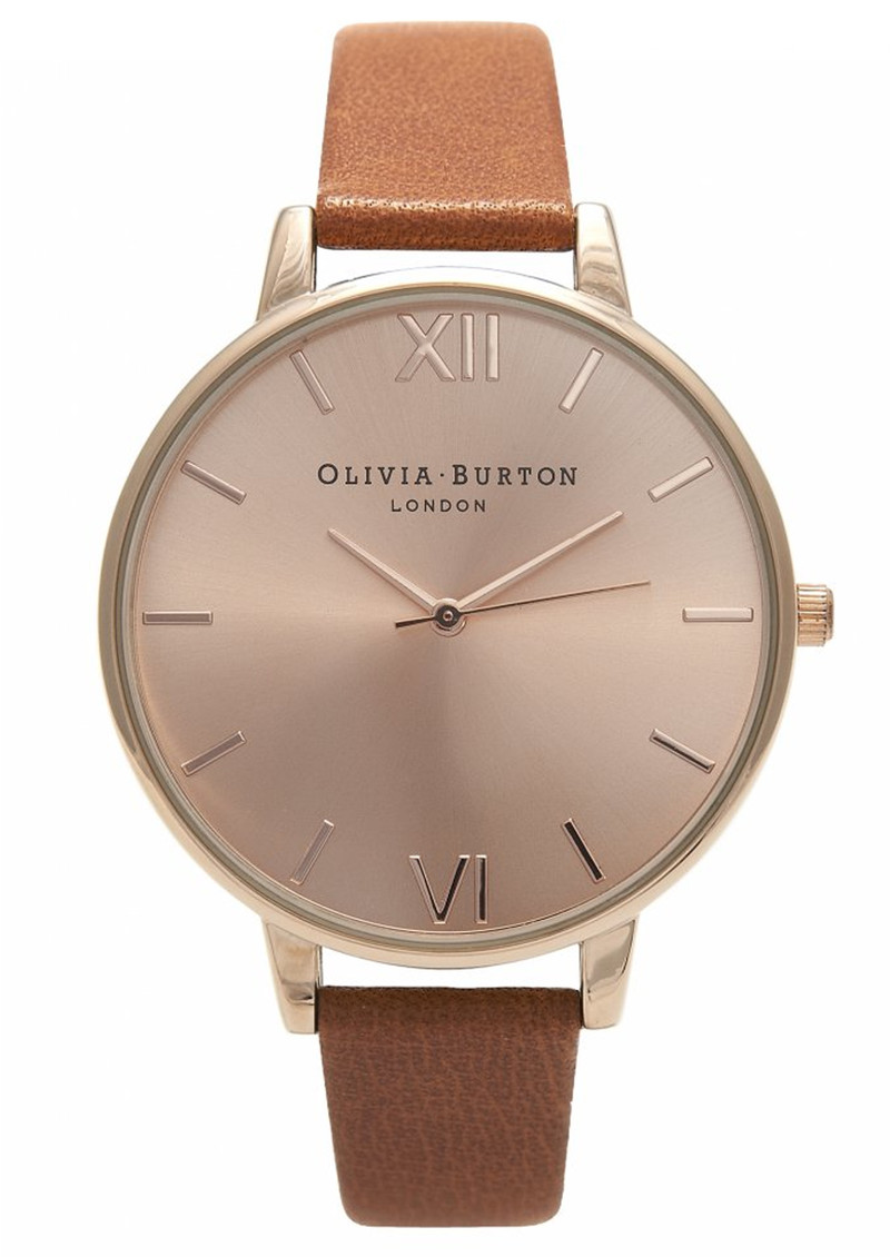 Olivia Burton Big Dial Watch - Tan & Rose Gold main image