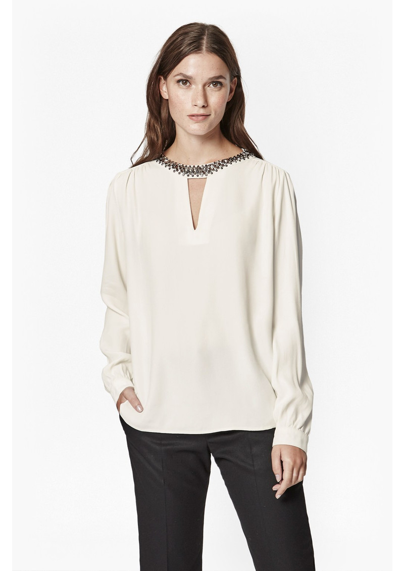 Great Plains Icicle Beaded Blouse - Butter Cream main image