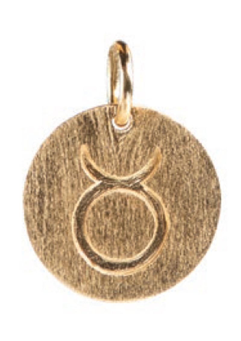 Zodiac Sign Gold Charm - Taurus main image