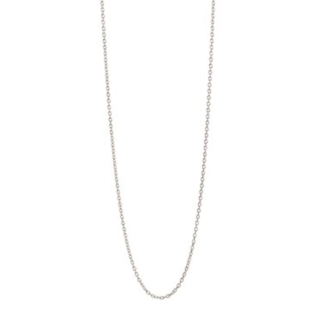 Long Anchor Chain Necklace - Silver