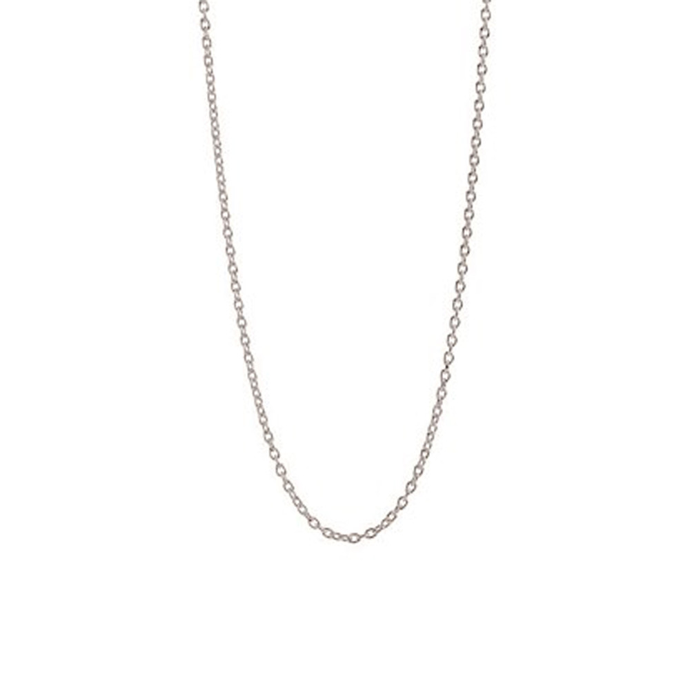 Short Anchor Chain Necklace - Silver