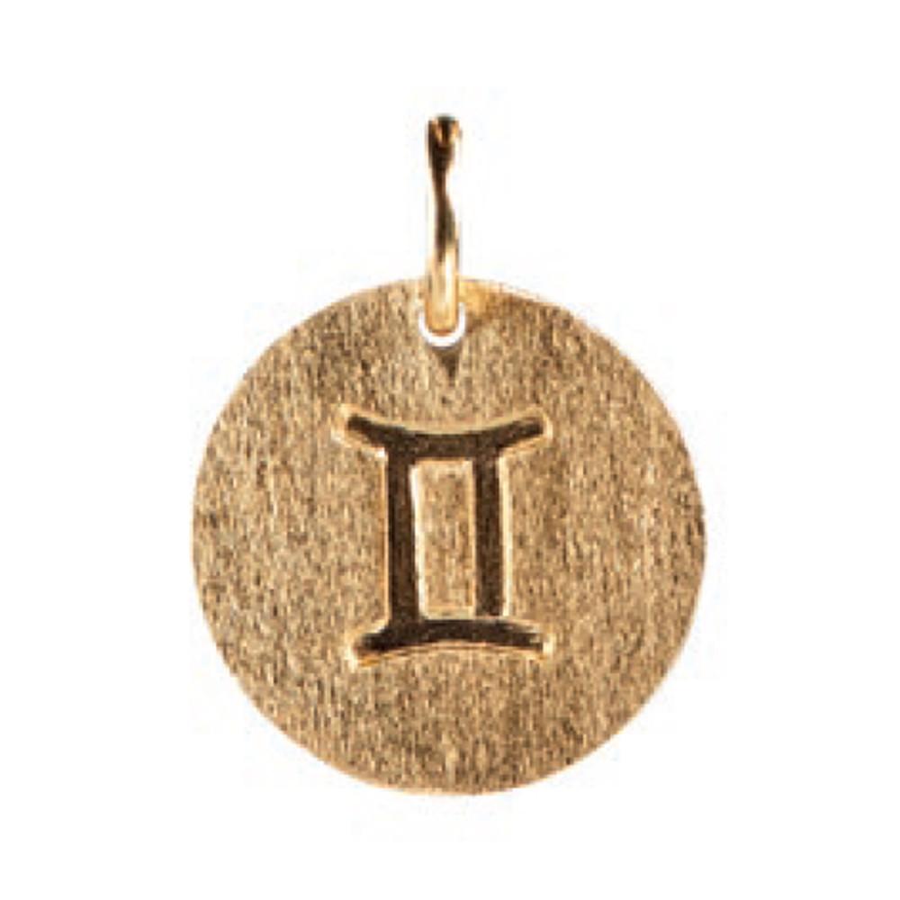 Zodiac Sign Gold Charm - Gemini