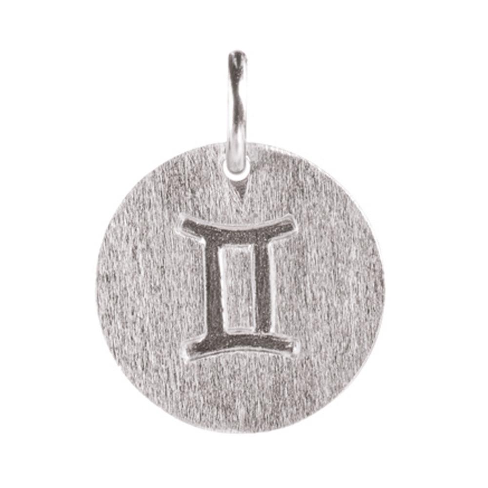 Zodiac Sign Silver Charm - Gemini