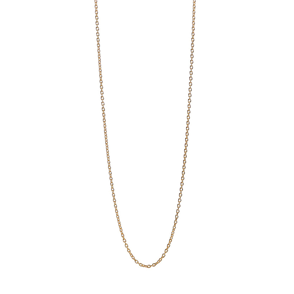 Long Anchor Chain Necklace - Gold