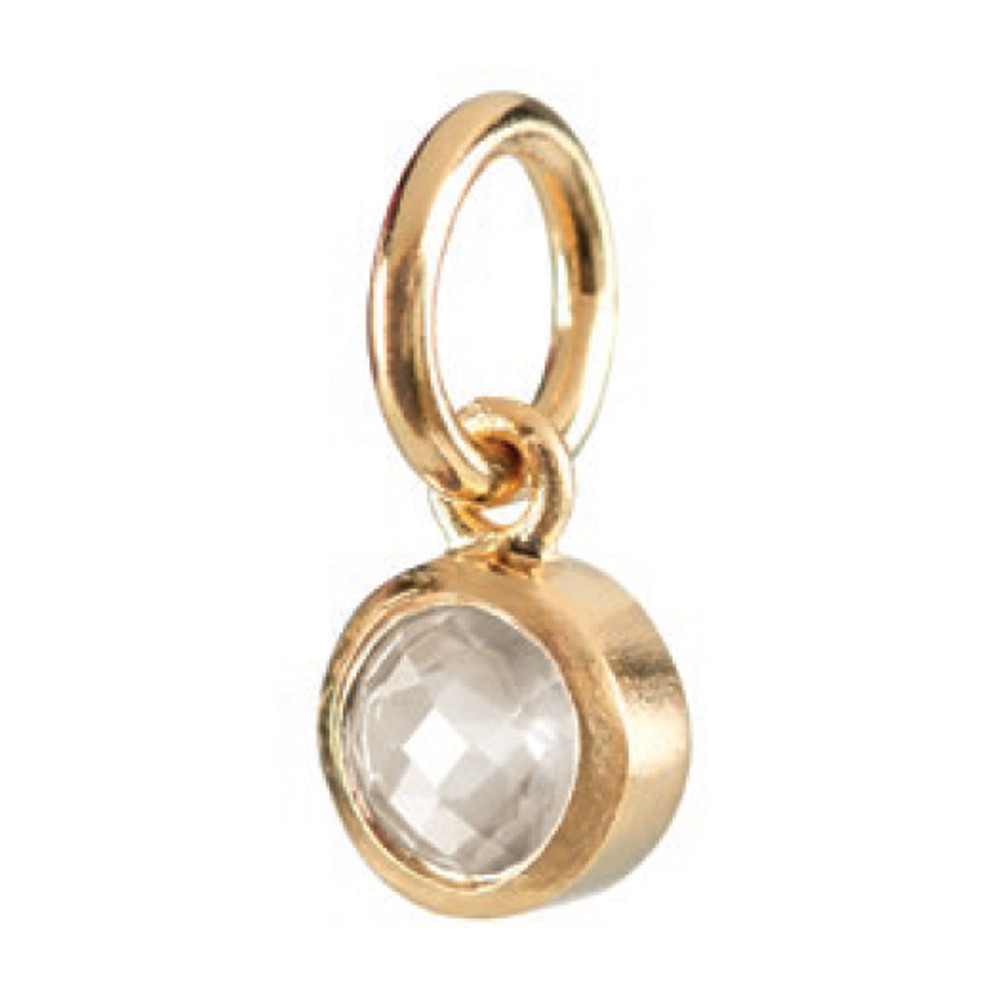 Star Stone Gold Charm - Rock Crystal