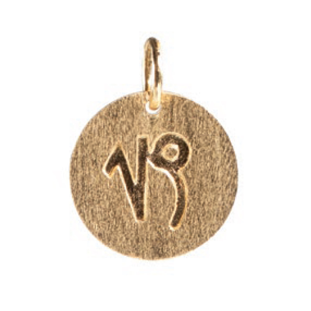 Zodiac Sign Gold Charm - Capricorn