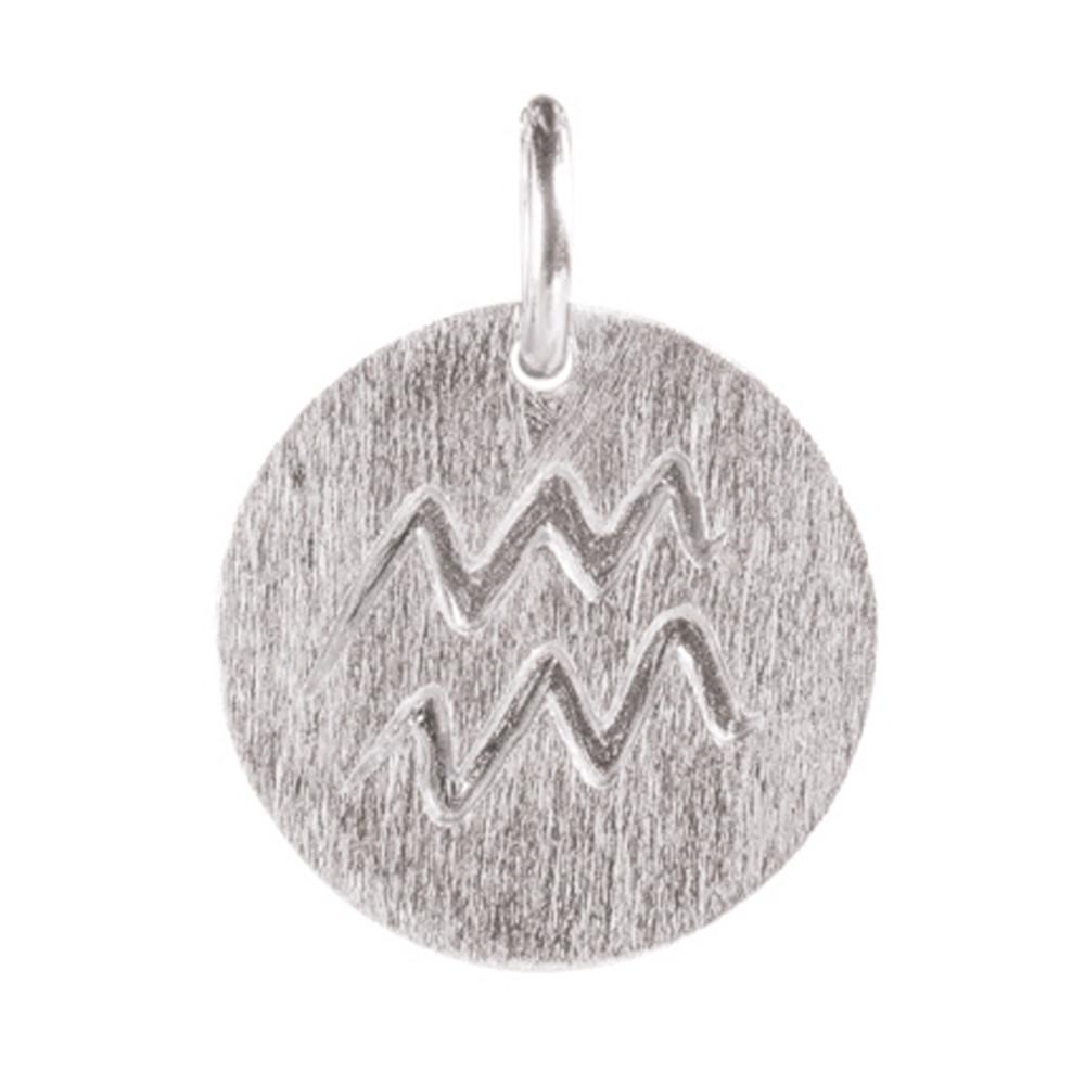 Zodiac Sign Silver Charm - Aquarius