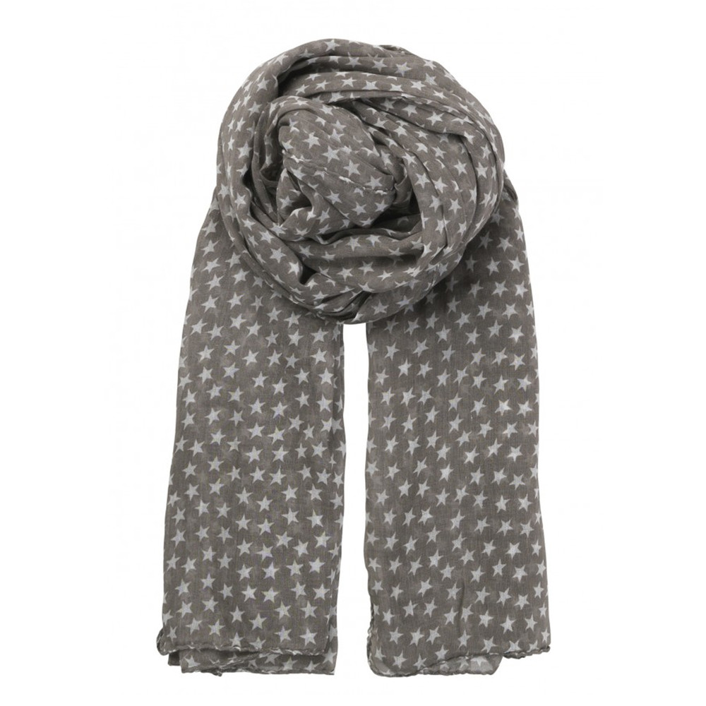 Fine Summer Star Cotton Scarf - Mouse